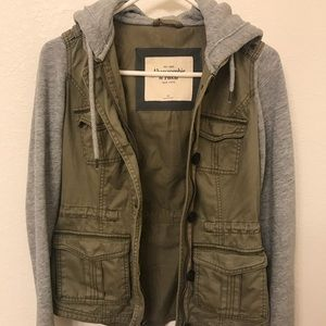 Abercrombie & Fitch Military/Fleece Jacket